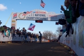 Driscoll and Krughoff at the finish.