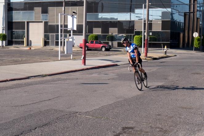 Roberto skidding into 3rd Overall.