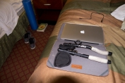 Foam roller and laptops. #hobbyenthusiastlife
