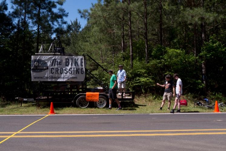 Road race finish line.