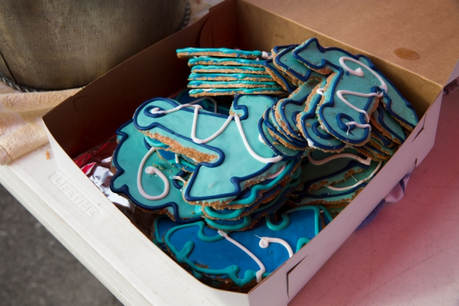 Specially made Harbor Master cookies.