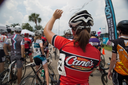 Charlotte Fournier, along with Mignon Guerin, both finished up their race and hopped back on their bikes to race in the Cat 4.