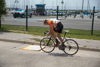 Jaden Kifer takes a flier in early on in the category 1/2 race and ends up in the winning breakaway.