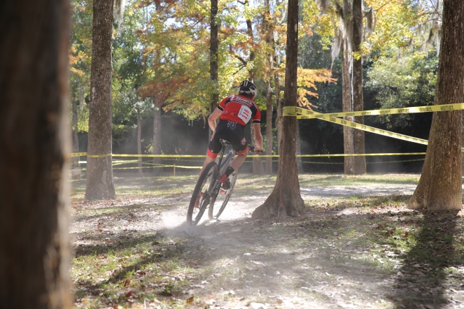 There go the really fast dudes on MTBs!