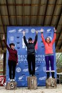 Women's Podium: Kelly Goodwin (Fearless Femme p/b Pure Energy Cycling-Vie 13), Rosanne Simons (NOLA Lending Racing)
