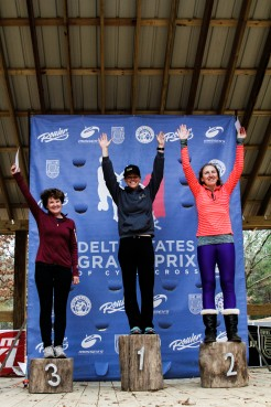 Women's Podium: Kelly Goodwin (Fearless Femme p/b Pure Energy Cycling-Vie 13), Rosanne Simons (NOLA Lending Racing)