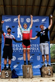 Cat 4 Podium: Jake Haddox (Willy's Cycling), Richard Carman (Rouler Racing), Donald Rowland (Racing Revolution).