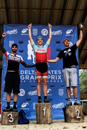 Cat 4 Podium: Jake Haddox (Willy's Cycling), Richard Carman (Rouler Racing), Donald Rowland (Racing Revolution).