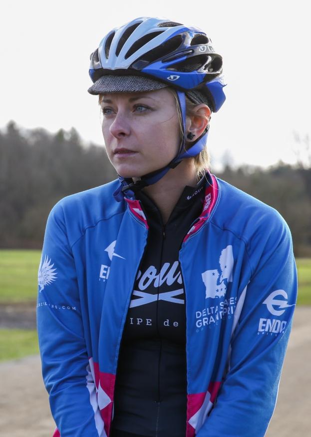 Rhea Aldridge at the start of the SS race.